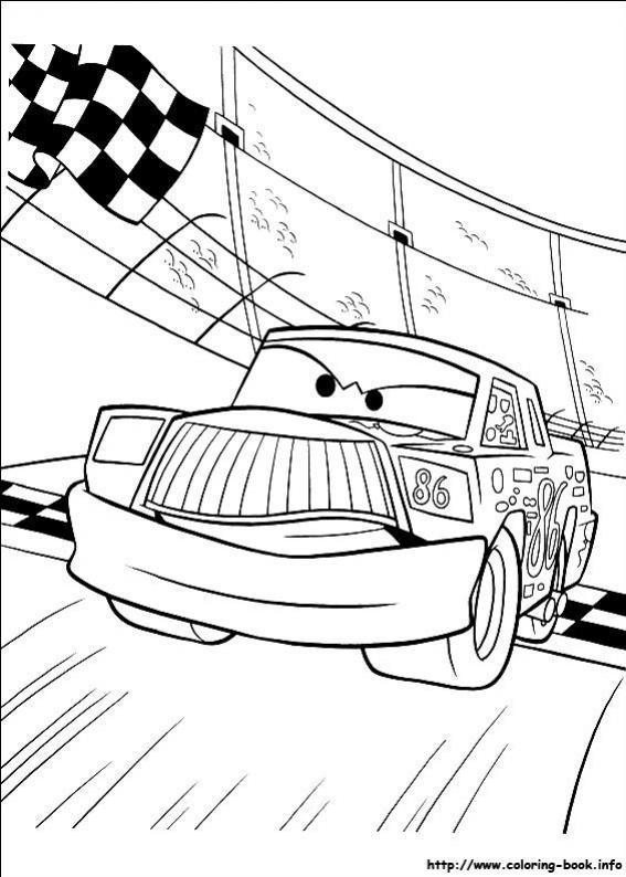 ภาพวาดระบายสีCars 38